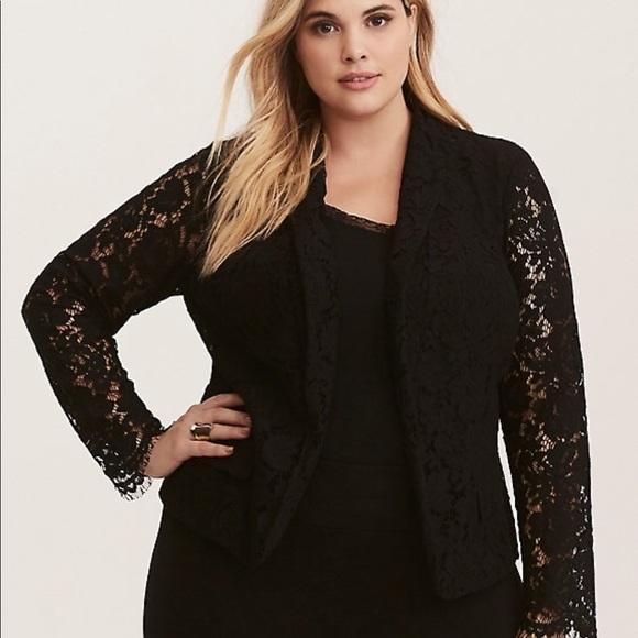 7b60563bad2b6 NWT Torrid Black Lace Blazer